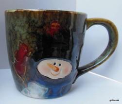 "Oversize Glazed Snowman Mug 4.5 x 4.5"" - $16.00"
