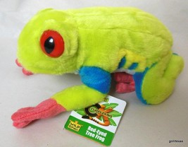 """Cuddlkins Red Eyed Tree Frog  8"""" New with Tags Wild Republic - $14.40"""
