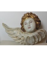 """Papier Mache Angel with Wing Hand Painted 16 x 10.5"""" - $36.40"""