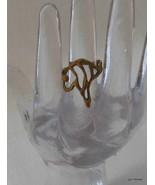 HandMade Ring Interesting Size 5 Alloy No Stone - $28.40