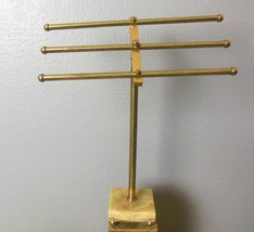 Vintage Hand Towel Hanger Holders Stand Marble ... - $45.40