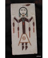 "Vintage Sand Painting Hand Made ""Female Night Chant"" 3 x 6"" Toledo New M... - $20.40"