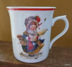 "Vintage Giordano Art Christmas Caroler Mug Enesco 1984 Japan 3.75"" - $15.00"
