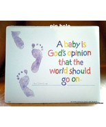 "Child Footprints Print 8x10"" Colorful Quote by Sandburg - $10.40"