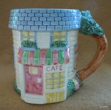 "Vintage Fitz and Floyd Cafe Mug Dimensional 1995 Hand Painted 4"" - $15.00"