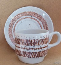 Vintage Bolton's Tableware Cup and Saucer  Staffordshire England Speckled - $10.00
