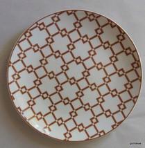 """Dinner  Plate Caramel and White  8.5"""" White Barn Lattice Pattern - $18.00"""