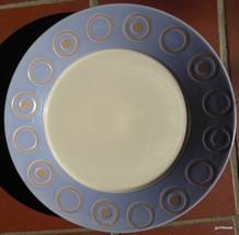 "Pier 1 Salad / Dessert Plate Cosmos 8"" Lavender and Tan - $10.00"