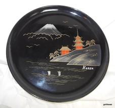 "Hand Decorated Enamel Tray Korea Made in Japan 10.5"" - $13.00"