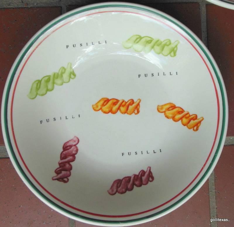 "Certified International Pasta  Bowl 8.5"" HEAVY Fusilli Pasta Graphic - $15.00"