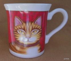 "Vintage Primitive Tiger Cat Mug Hallmark 1987 3.5"" - $15.00"