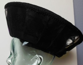 Fabulous Hat Black with Purple and White Hand Made Signed Sundita Women'... - $45.00