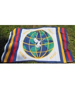 "NEW Flag Banner World Peace with Dove 36 x 60"" - $12.40"