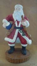 "Vintage Old World Santa with Drum Hand Painted Resin 10"" - $32.40"