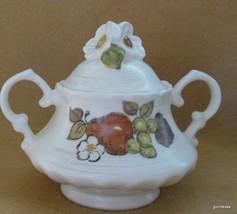 Vintage Mid Century Metlox Vernonware Covered Sugar Bowl  Fruit Basket - $19.00