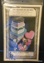 "Vintage Amity Pub. ""Within My Heart"" # 019 fabric covered boxes pattern ... - $12.40"