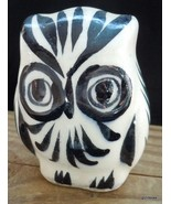"Vintage Folk Art Ceramic Owl Mexico Turquoise Flower 2.5"" - $14.00"