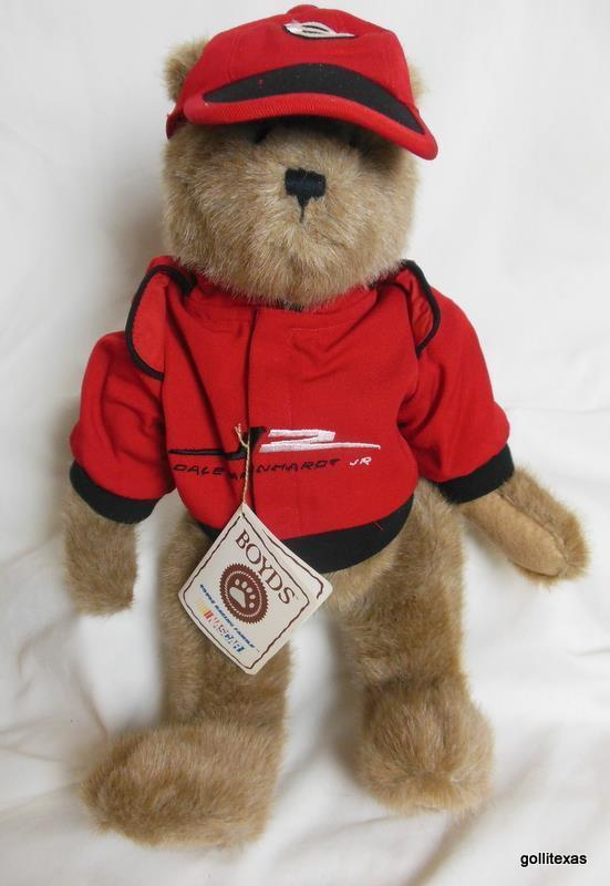 "Boyds Bears Nascar 14"" Dale Earnhart #8 With Cap and Jacket and Tag"