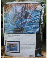 """Cold Water Warm Heart"" Needlepoint Kit Unopened Black Labrador Dog Dime... - $50.40"
