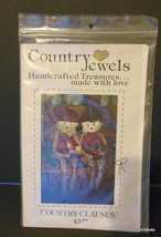 Vintage Country Jewels Pattern for Country Clauses Santa Clause  New - $12.40