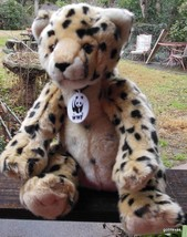 "Build A Bear  Cheetah Jaguar ? 12"" Sitting - $16.00"