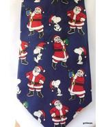 """Peanuts Christmas Men's Tie Snoopy """"Hangin' with Santa"""" - $30.40"""