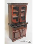 "Doll House Miniature Wood China Cupboard 5.5 x 3"" - $14.00"