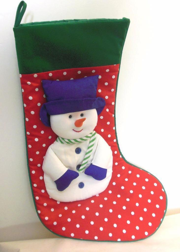 "Primary image for Snowman Christmas Stocking with ""Carrot"" Nose 16"""
