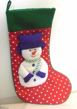 "Snowman Christmas Stocking with ""Carrot"" Nose 16"" - $14.40"
