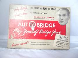 Vintage AutoBridge Play-Yourself Game Charles Goren 1950's - $18.29