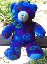 """Build a Bear Blue Peace Bear with Ear Ribbon 15"""" - $26.40"""