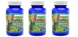 Pure Green Coffee Bean Extract Cleanse 60 Capsules 3 Bottles - $14.24