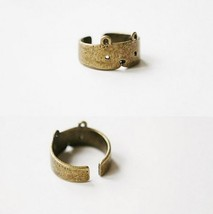Antique Finish Cute Bear Band Ring - $2.99