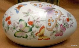 "Vintage Avon Butterfly Egg Trinket Box 5.5 x 3.5"" 1974 - $19.00"