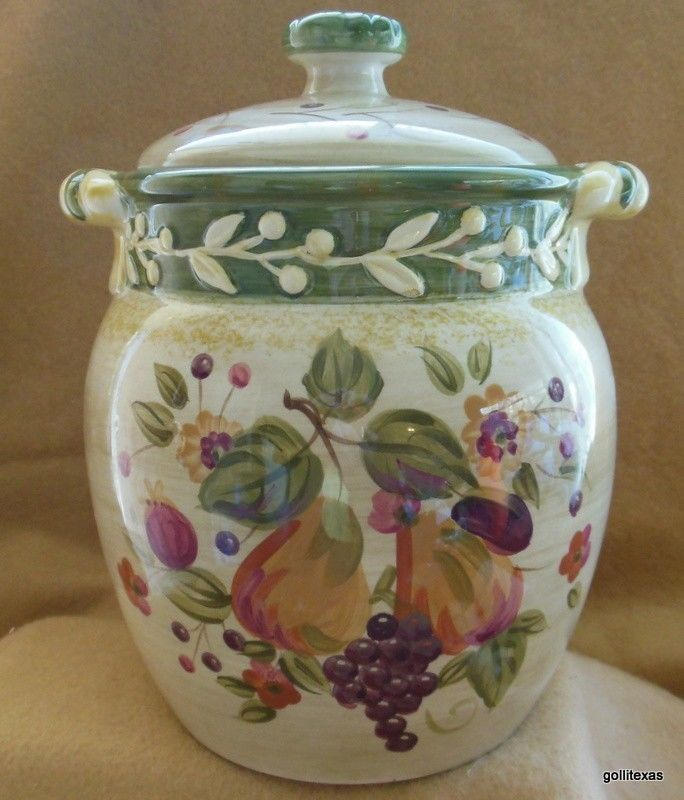 "Certified International La Toscana Gladdings Large Canister with Lid 9.5"" - $60.40"
