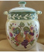 """Certified International La Toscana Gladdings Large Canister with Lid 9.5"""" - $60.40"""