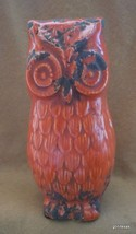 "Dark Orange Ceramic Owl Made to Look Old 8"" NEW - $29.40"
