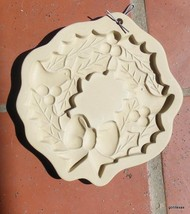 "Christmas Wreath Cookie Mold Hill Design 1988 5.5""Plus Hanger - $15.00"