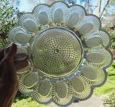 "Vintage Glass Egg Plate 11.25"" Thousand Eyes ? Hobnail ? Indiana Glass - $30.00"