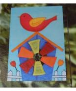 "Pinwheel  Flag / Banner Birdhouse Blue 12 x 18"" NEW - $12.40"