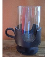 "Set of 2 Corning Glass Snap Mugs Black Base 12 Oz.  6.5"" - $21.00"