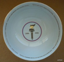 "Vintage Avon Commemorative Bowl Statue of Liberty 19866.25"" Diameter - $16.00"