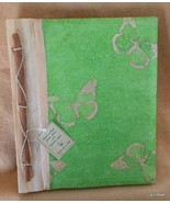 NEW Photo Album Hand Made Bamboo Paper with Butterfly 9 x 11 40 Photos 4... - $22.40