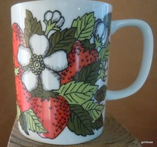 "Vintage Strawberry Mug Fitz and Floyd 3.5"" Bone China - $15.00"