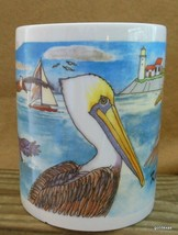 "Vintage Mug Key Largo Florida Pelicans Large 4.25"" - $15.00"