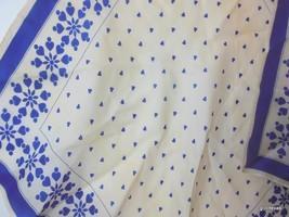 "Vintage Vera Folk Art Hearts Scarf 100% Silk 21"" - $22.40"
