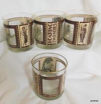 """Set of 4 Roaring Twenties Movie Glasses 3.5"""" - $45.40"""