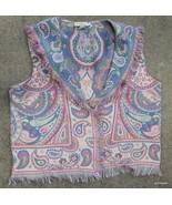Western Plains Co Tapestry Vest Shawl Collar USA One Size Fits Most - $35.40