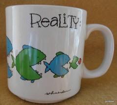 """Reality Mug Russ Fish Theme 3.5"""" Vintage Korea - $15.00"""