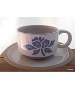 Midwinter Stoneware Cup and Saucer Japan Blue Print Flower - $13.00